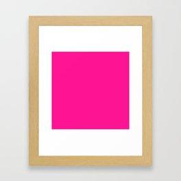 SOLID PLAIN PLASTIC PINK WORLDWIDE TRENDING COLOR / COLOUR Framed Art Print