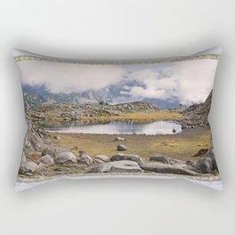 BLUE AND GOLD MOUNTAIN SOLITUDE Rectangular Pillow
