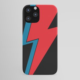 Rock and Roll Red and Blue Lightning Flash iPhone Case