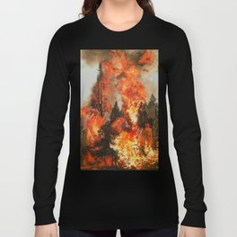Fire Study #1 Long Sleeve T-shirt
