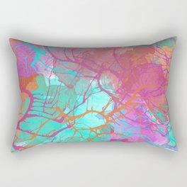color splatter watercolor digital print Rectangular Pillow