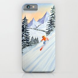 Skiing - The Clear Lady Leader iPhone Case