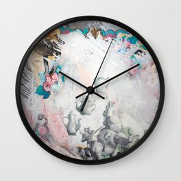 Rustic Romp Wall Clock