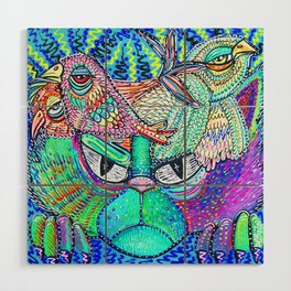 Psychedelic Vision Wood Wall Art