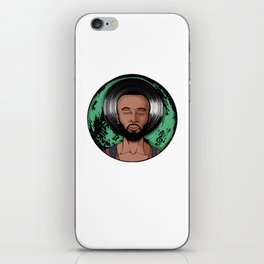"Dexter Jordan ""Green Moon"" iPhone Skin"