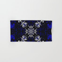 Dark Blue, Black, and White Pattern Hand & Bath Towel