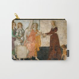 """Sandro Botticelli """"Venus and the Three Graces Presenting Gifts to a Young Woman"""" Carry-All Pouch"""