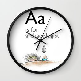 A is for Archaeology Wall Clock
