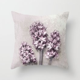 Delicate Hyacinths Throw Pillow