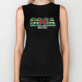 Soca Music design : Party Gift for Carnival Rum and Wining, Caribbean Reggae Dancehall Culture, Biker Tank
