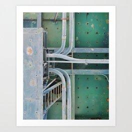 industrial pastels 2 Art Print