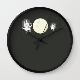 Astro Bunnies Wall Clock