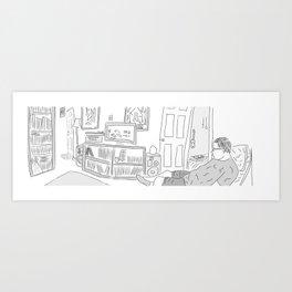 Ben at Home Art Print