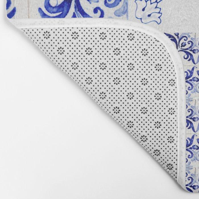 azulejos - Portuguese painted tiles Bath Mat