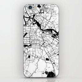 Amsterdam White on Black Street Map iPhone Skin