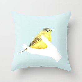 a friend in my hand - 1 Throw Pillow