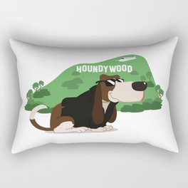 Hollywood Basset Hound Rectangular Pillow