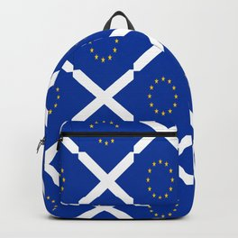 Mix of flag: UE and scotland Backpack