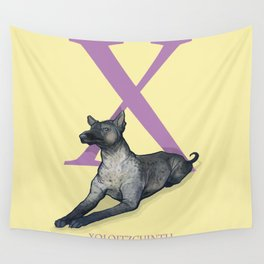 X is for Xoloitzcuintli: Under Appreciated Animals™ ABC nursery decor soft yellow unusual animals Wall Tapestry
