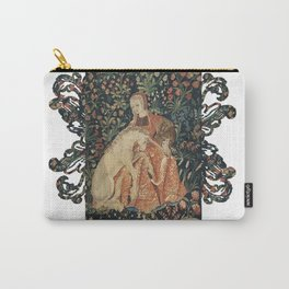 Medieval Art - Lady Queen and Loving Unicorn Carry-All Pouch