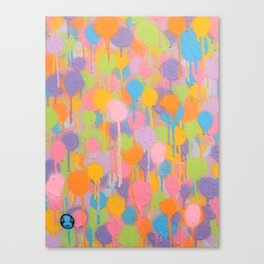 Floating In A Festival Of Candy Colored Balloons Or Swimming In A Sea Of Psychedelic Jellyfish Canvas Print