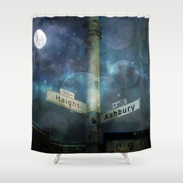 Haight Ashbury Vibes Shower Curtain