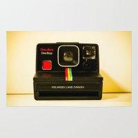 polaroid Area & Throw Rugs featuring Polaroid by Sydney S Photography
