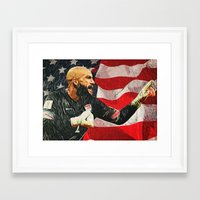 tim shumate Framed Art Prints featuring Tim Howard by Taylan Soyturk