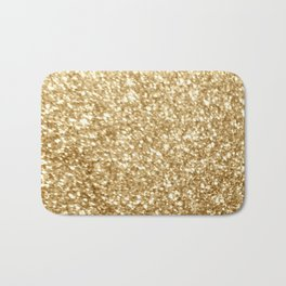 Gold glitter Bath Mat