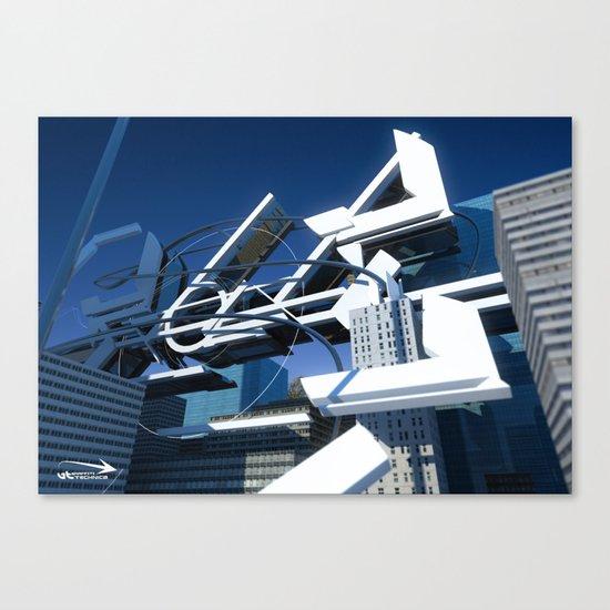 3d graffiti - 'Evolve city Canvas Print