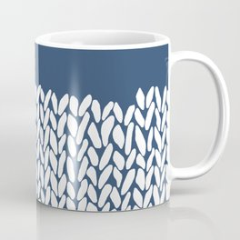Half Knit Navy Coffee Mug