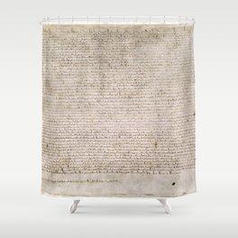 The Magna Carta 0f 1215 Shower Curtain
