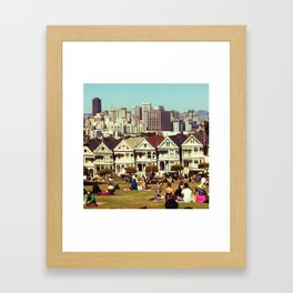 alamo square Framed Art Print