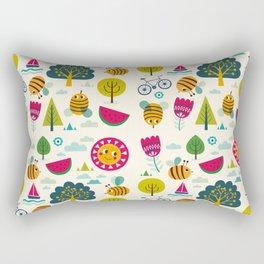 Summer and Bees Rectangular Pillow