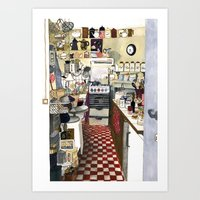 kitchen Art Prints featuring Kitchen by Hanne De Brabander
