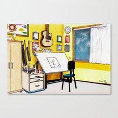 MEMORIES OF MY INNER CHILD 3# Art Studio of my Dreams Canvas Print