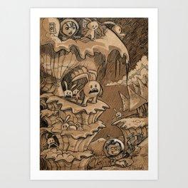Epic climb Art Print