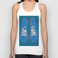 sneakers Tank Tops featuring Sneakers by Sam Ayres