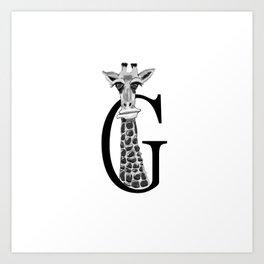 Letter Giraf Art Print