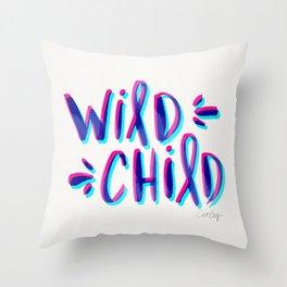 Wild Child – Magenta & Cyan Palette Throw Pillow
