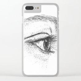 Eye yi yi Clear iPhone Case