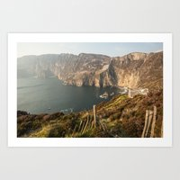 league Art Prints featuring Slieve League by Marie Carr