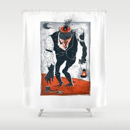 The Haunted Conductor Shower Curtain