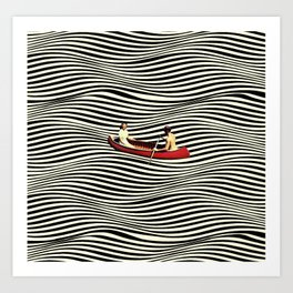 Illusionary Boat Ride Art Print