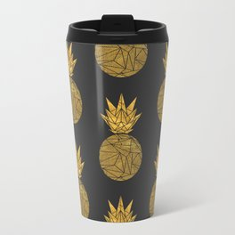 Bullion Rays Pineapple Metal Travel Mug
