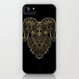 Aries Gold iPhone Case