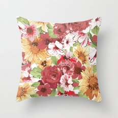 FLORAL PATTERN 7 Throw Pillow