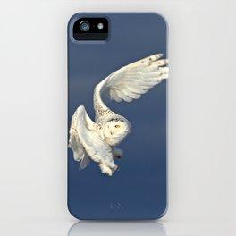 Snowy owl in flight iPhone Case