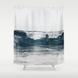 Glassy Blues Shower Curtain