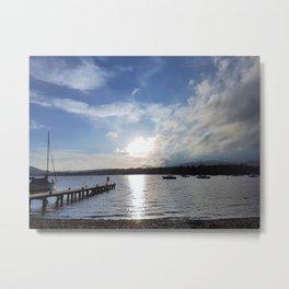 Afternoon Sun on Lake Windermere Metal Print